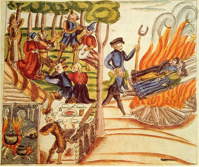 Witches burned at the stake