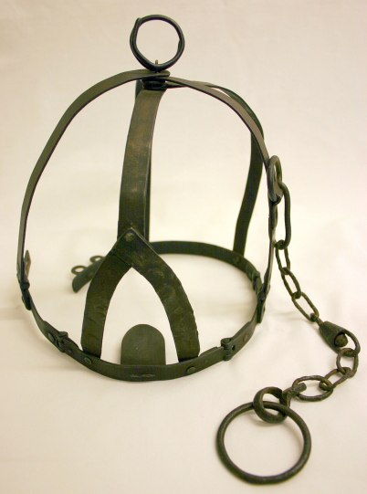 Photo credit: 'A brank's or scold's bridle' Black Country Museums via Foter.com / CC BY-NC-SA Original image URL: https://www.flickr.com/photos/blackcountrymuseums/4384353755/