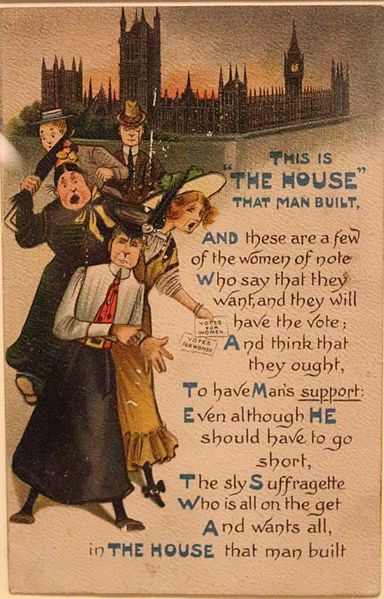 Anti Suffrage Postcards C.1908 People's History Museum Public domain https://commons.wikimedia.org/wiki/File%3AAnti_Suffrage_Postcard_c.1908_03.jpg
