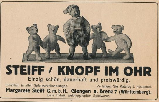 adv Steiff 1923 janwillemsen via Foter.com / CC BY-NC-SA Original image URL: https://www.flickr.com/photos/8725928@N02/12383488983/