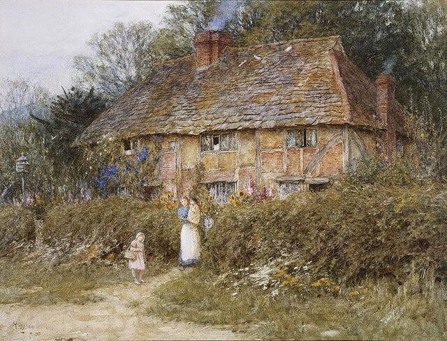 An Old Surrey Cottage.... Image: Plum leaves via flickr.com