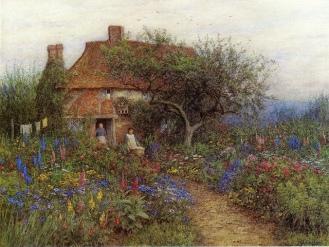 A Cottage near Brook, Witley, Surrey.... Image: Irina via flickr.com Public domain