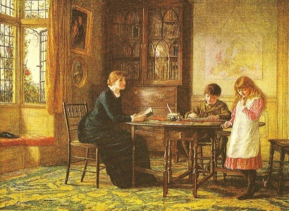 Lessons.... (1885). Image: In Pastel via flickr.com