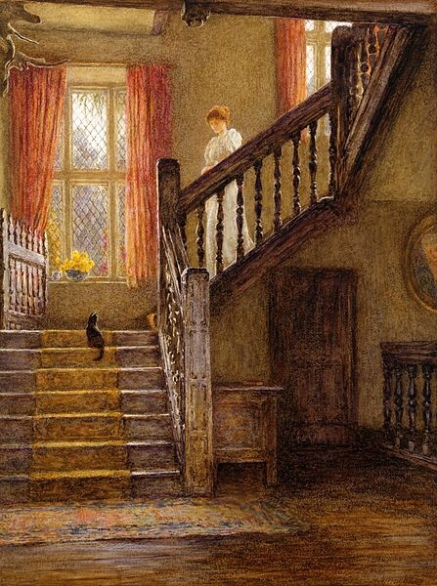 The Staircase, Whittington Court, Gloucestershire.... Private collection