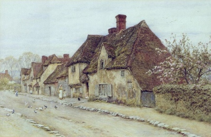 A Village Street.... (Private collection)