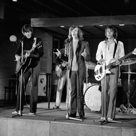 The Bee Gees performing on Dutch television Twien in 1968