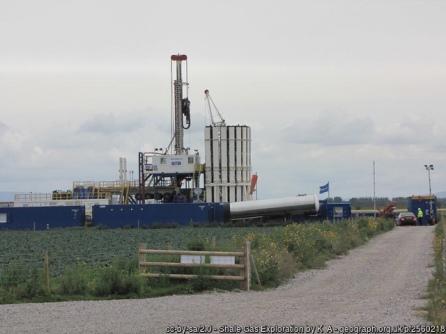 Fracking test rig - Lancashire