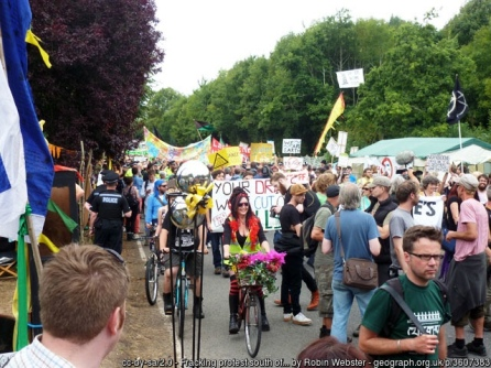 Fracking protest south of Balcombe