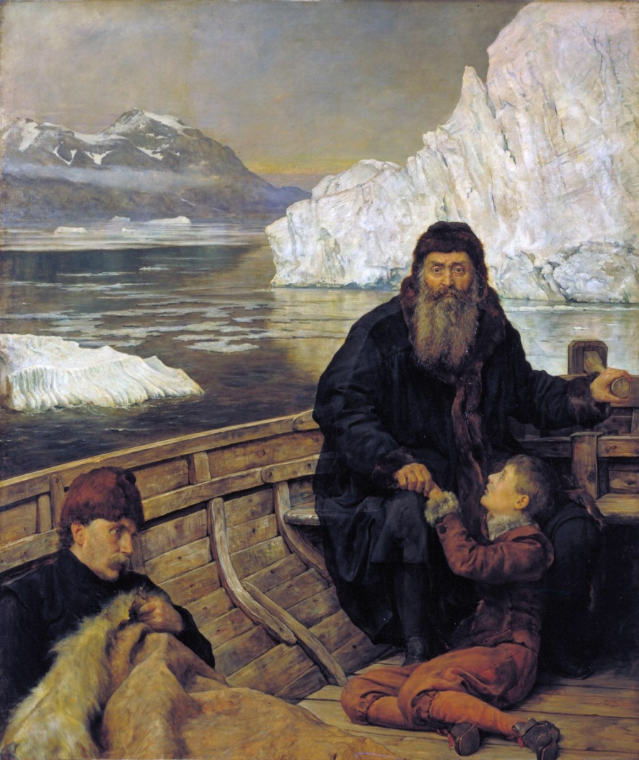 The Last Voyage of Henry Hudson exhibited 1881 by The Hon. John Collier 1850-1934