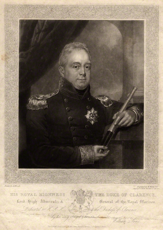 NPG D10853; King William IV by William James Ward, published by  William Sams, after  Abraham Wivell
