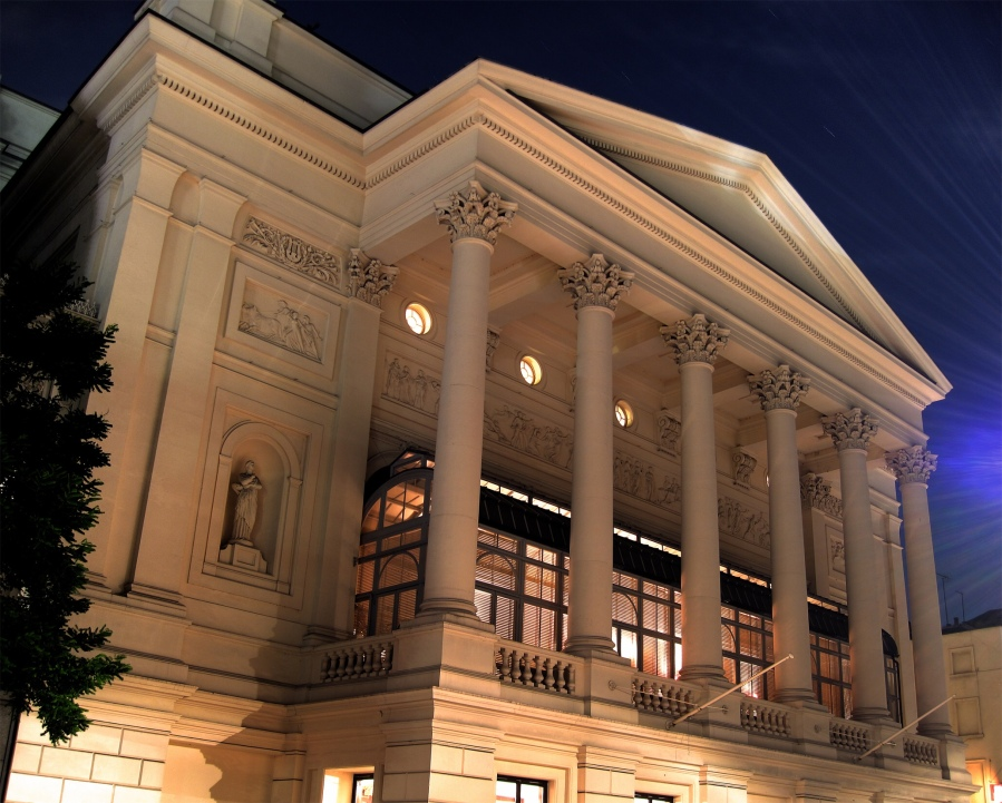 Royal Opera House at night