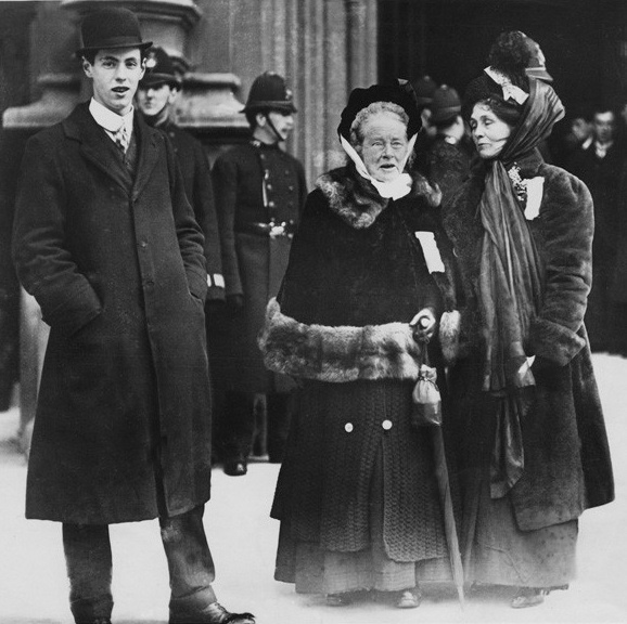 NPG x32106; Elizabeth Garrett Anderson; Emmeline Pankhurst by Unknown photographer