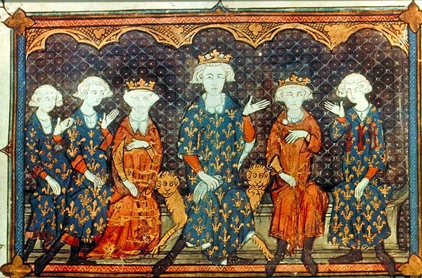 Isabella of France, third from left, with her father Philip IV of France, centre - Image : Michaelsanders at English Wikipedia - Public domain
