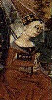 Isabella of France, 15th century depiction - Public domain