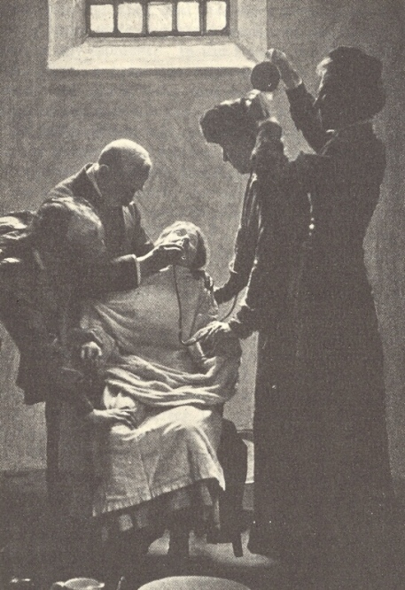 Suffragette being force fed in Holloway Prison circa 1911 - Public domain